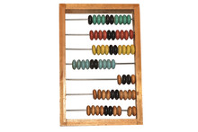 Vintage Wooden Abacus With Col...