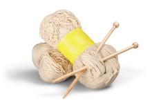 Wool Yarn And Knitting Needles