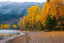 Autumn Colors On Shore Of Lake...