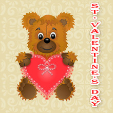 Greeting Card Happy Valentine'...