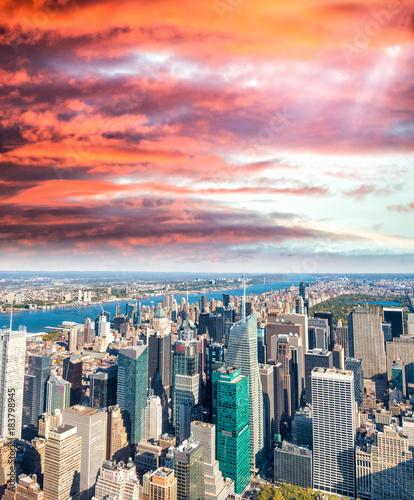 Photo  New York City skyline on a beautiful day