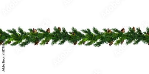 Fotografia  Vector Christmas Border