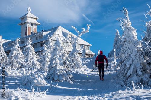 Keuken foto achterwand Wintersporten Wintersport im Erzgebirge