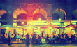 canvas print picture - Nightlife of Placa Reial in Barcelona