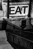 Eat Sign in Stairs - 183806907