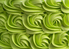 Green Cake Frosting Mix Background.