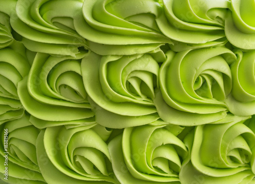 Green cake frosting mix background. Canvas