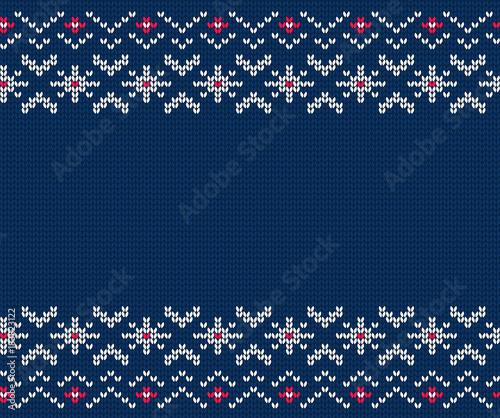 Photo Knitted seamless pattern for sweater. Vector background