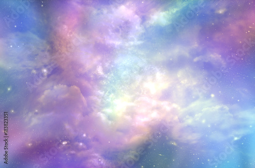 This must be what the Heavens Above looks like  -  Multicolored ethereal cosmic Canvas Print