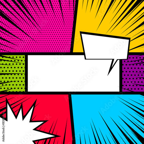Book Cover Graphism Url ~ Vector colored halftone illustration blank humor graphic