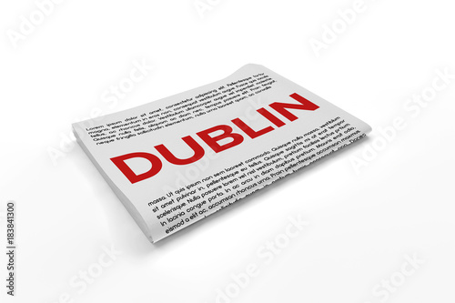 Photo  Dublin on Newspaper background