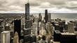 Aerial City Skyline