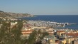 Aerial view San Remo old port luxury yacht traditional building architecture day