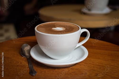 Spoed Foto op Canvas Chocolade Tasse de chocolat chaud