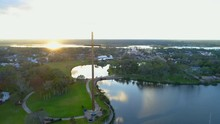 Aerial Footage The Great Cross St Augustine FL