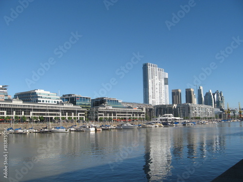 Keuken foto achterwand San Francisco A view of Puerto Madero and it's river in Buenos Aires, Argentina