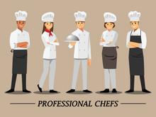 Professional Chef Set ,Vector ...