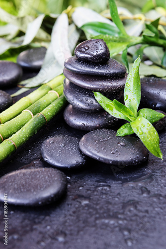 Recess Fitting Zen Spa-concept with zen stones and bamboo