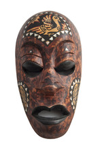 Wooden Painted African Mask