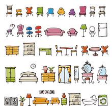 手描きのかわいい家具...