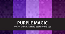 Snowflake Pattern Set Purple M...