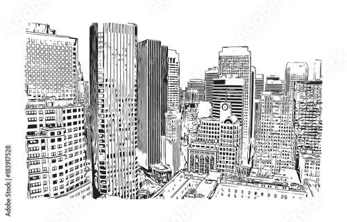 Tuinposter Art Studio Sketch of San Fransisco City, California, USA in vector illustration.