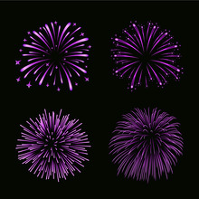 Beautiful Purple Fireworks Set...
