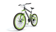 Black 29er Mountain Bike On White Background