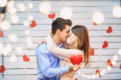 Fotografie, Obraz  Young couple on Valentine's Day
