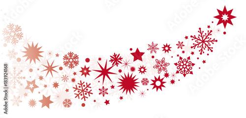 Banner Weihnachtsdeko Rot Vektor Illustration Mit Roten Sternen In