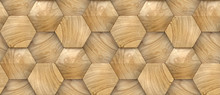 3D Wallpaper Of Wood Design Vo...