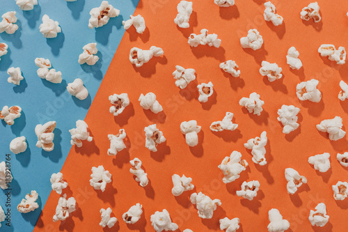 Popcorn on a colorful backg...