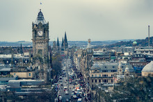 Clock Tower In Edinburgh