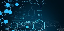 Digital Background With Chemical Sign