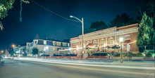 Night Long Exposure In Town Of...