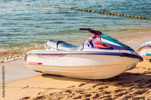 Poster Nautique motorise Jetski on the beach in Phu Quoc, Vietnam