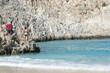 Sandy beach, the Bay of the devil, the island of Crete.