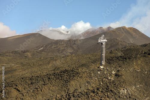 Etna ed impianti di risalita 22 Canvas Print