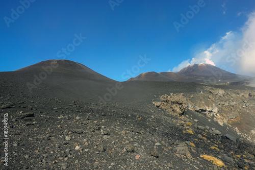 crateri sommitali vulcano Etna 74 Canvas Print