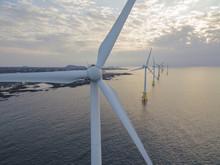 Offshore Wind Turbines Farm , ...