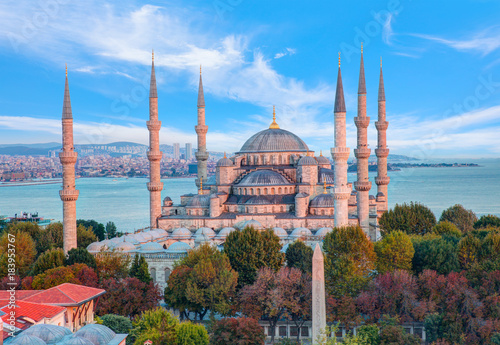 The Blue Mosque, (Sultanahmet Camii), Istanbul Canvas Print