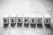 canvas print picture - concept mot formé avec des lettres en bois - Respect
