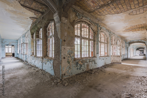 Wall Murals Old Hospital Beelitz Lost Hallway