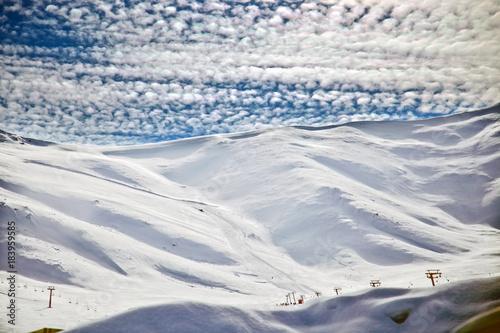 Aluminium Prints Dark grey A beautiful winter landscape in Turkey