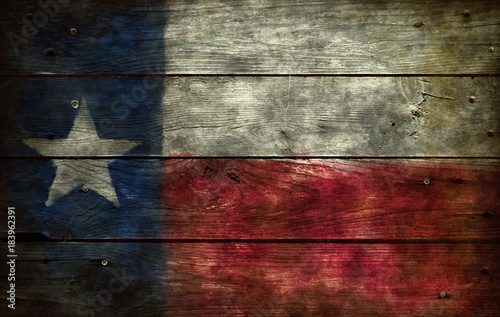 La pose en embrasure Texas flag of texas