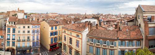 Obraz na płótnie Vue panoramique de Toulouse depuis Les Carmes