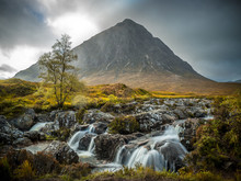 Buachaille Etive Mor With Small River, Scotland