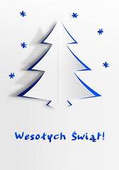 Kartka bożonarodzeniowa Wesołych Świąt