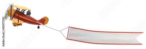 Flieger mit Banner Aufstieg Canvas Print