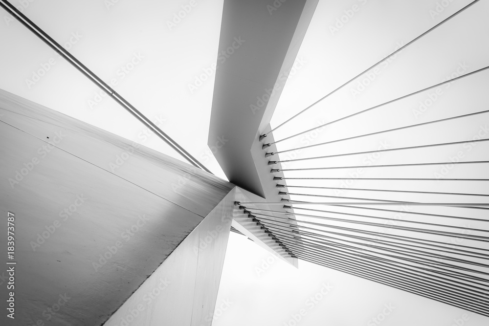 Fototapeta Abstract architecture in black and white